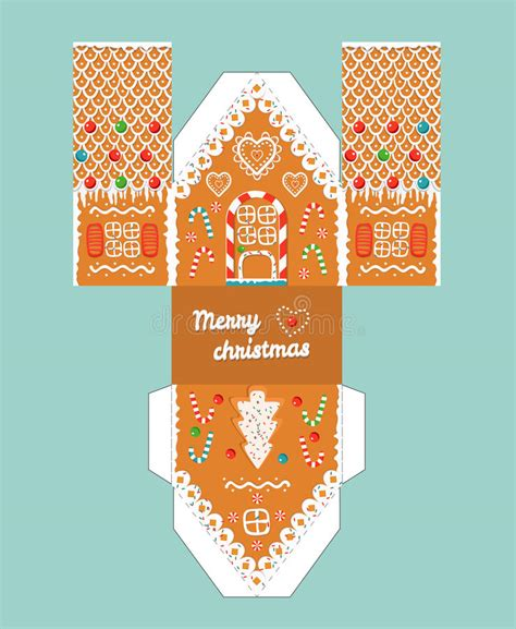 glaze paper craft printable gift gingerbread house with glaze