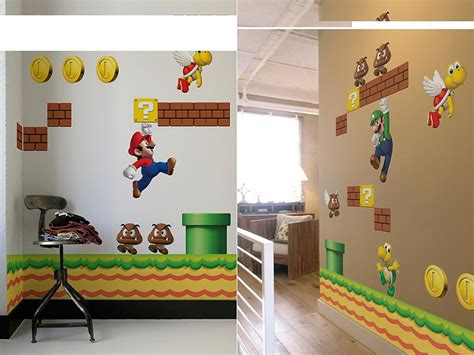 mario wall sticker mario bros wall decals gadgetsin