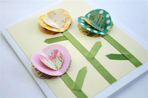 how to make 3d mothers day cards the creative place diy tuesday 3d flowers card