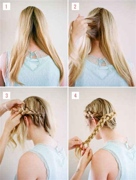 how to put on braided hair hair tutorial halo braid green wedding shoes
