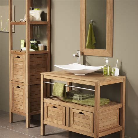 meuble salle de bain bois pas cher