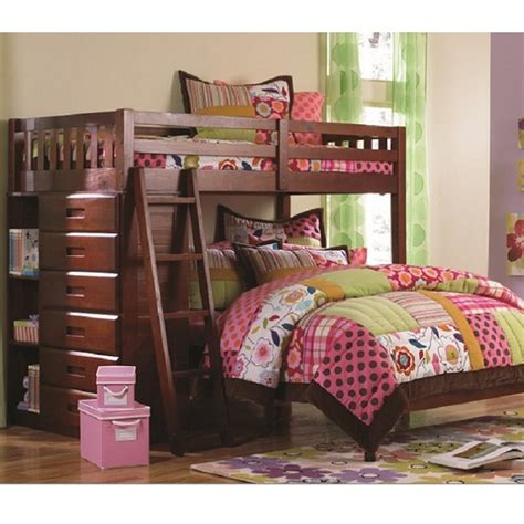 all wood bunk beds solid wood bunk bed in merlot finish