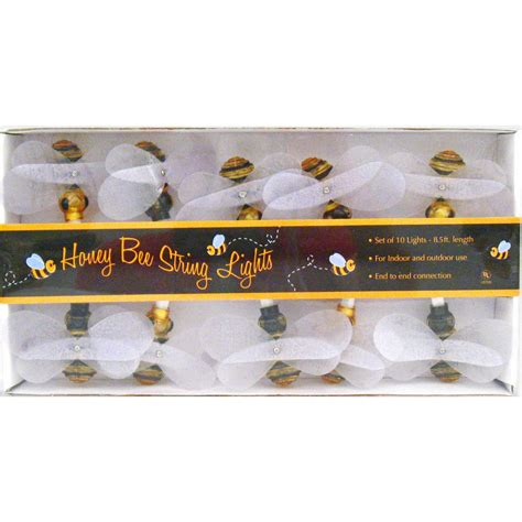 honey bee string lights insects bugs spring amp garden