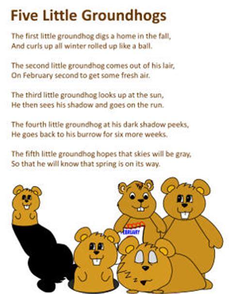 groundhog day poetry five groundhogs poem