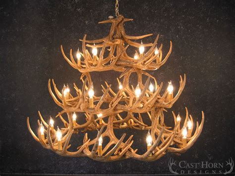 whitetail deer antler chandelier whitetail deer 42 antler chandelier cast horn designs