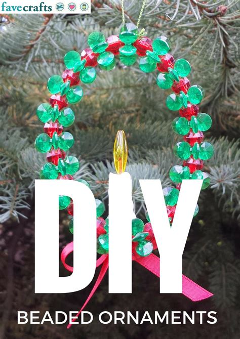 how to make beaded ornaments 22 diy beaded ornaments favecrafts