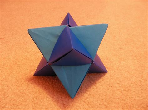 tetrahedra origami pin tetrahedron net template on