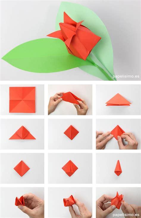 origami shapes for como hacer tulipan de papel origami tulip flowers