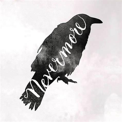 nevermore raven tattoo design