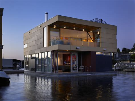 floating houses lake union floating home vandeventer carlander