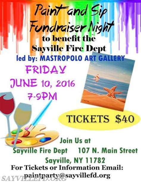 paint nite fundraiser paint at sayville department sayville