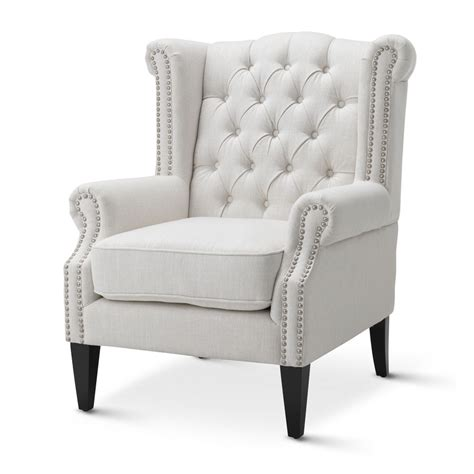 White Armchair by Royal Wingback Armchair Various Colours By Black Mango