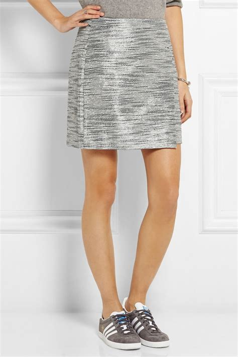 origami mini skirt j crew origami wrap effect metallic tweed mini skirt