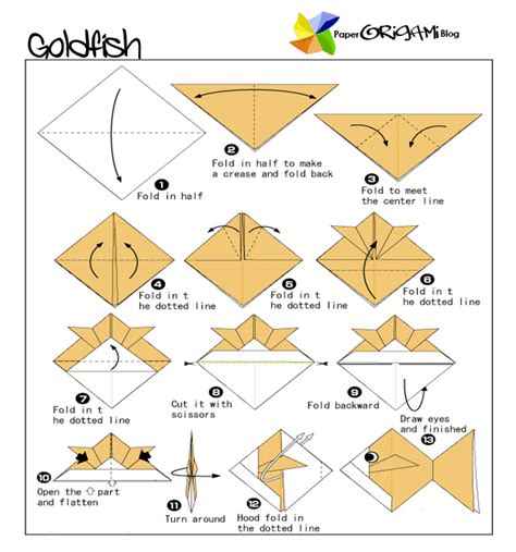 origami koi diagram traditional origami godfish paper origami guide