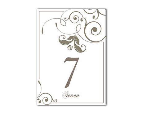 how to make table number cards table numbers wedding table numbers printable table cards