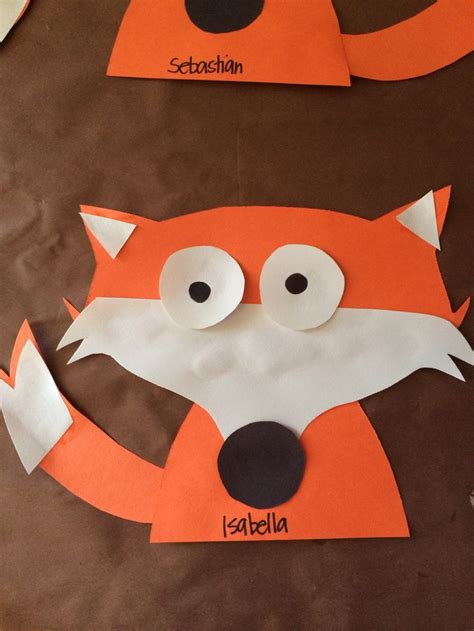 fox crafts for fox for the letter f no template or but