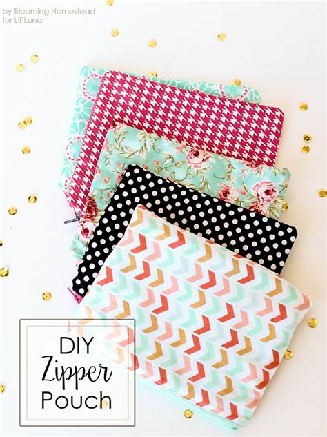 easy sewing projects for craft fairs diy zipper pouches