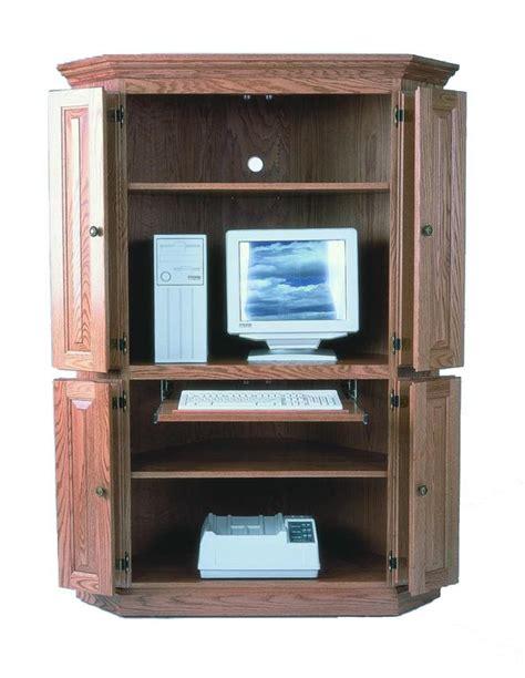 amish computer armoire amish corner computer armoire desk