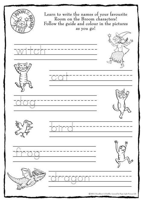 text room room on the broom handwriting activity activities using