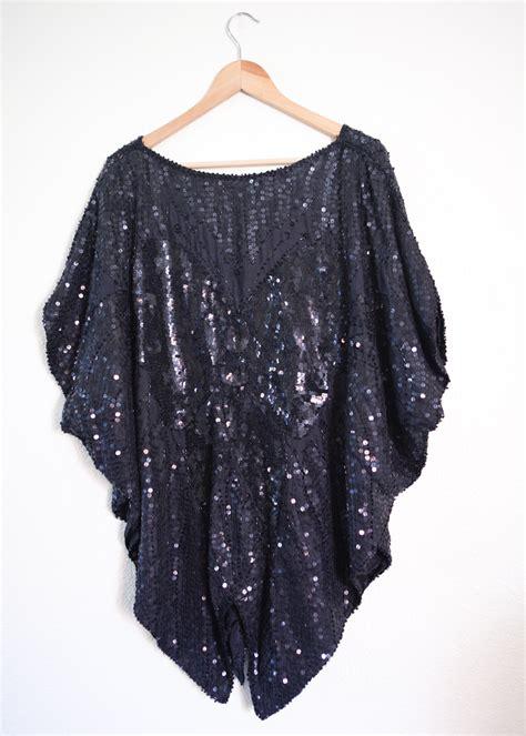 beaded blouse plus size vintage black sequin batwing beaded blouse 3x 4x