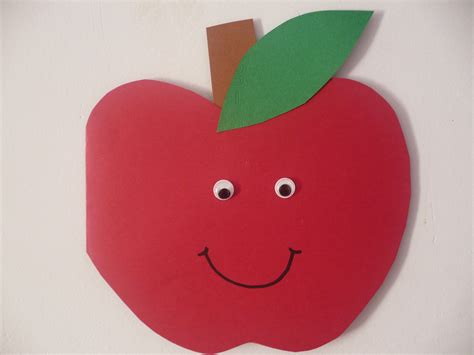 apple crafts for easy apple card family crafts