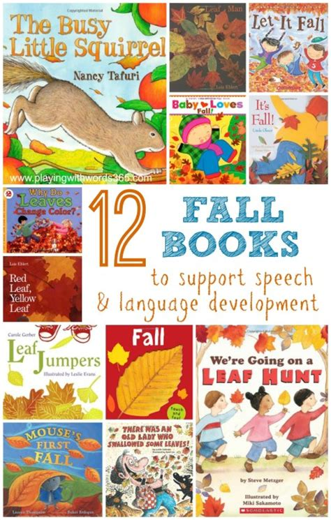 fall picture books 12 fall books to support speech language development in