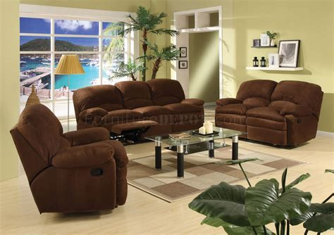 chocolate brown living room furniture chocolate brown microfiber contemporary reclining living room