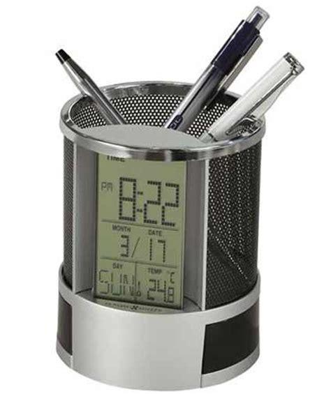 office desk clocks howard miller desk mate 645 759 desk organizer clock the