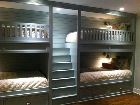 Driftwood Bedroom Furniture double bunk beds in our new basement bunk room fun for