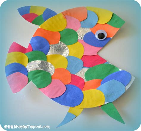 paper plate fish craft the rainbow fish book activities crafts and snack ideas