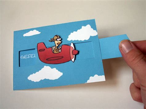 make e card pull out birthday card