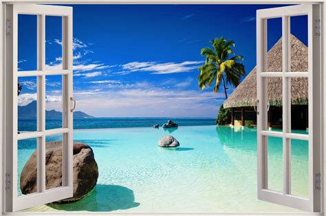 Relaxing Wall Murals image gallery ocean view from window
