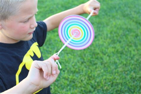 kid and craft diy paper spinner for endless make and takes