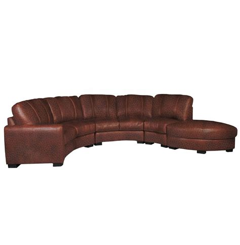 curved leather sofas jonathan sectional curved sectional sofa in chestnut