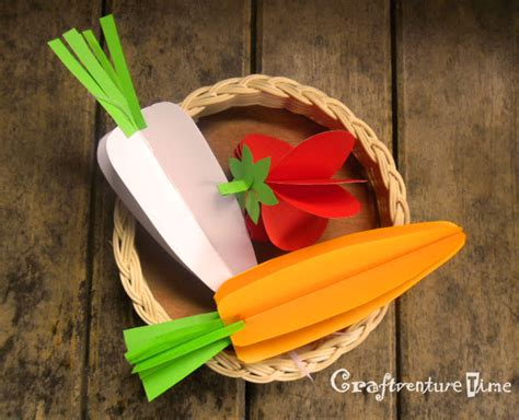 3d paper crafts for craftventure time 3d paper fruits and vegetables