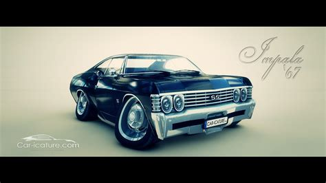 1967 Chevy Impala Supernatural Wallpaper, chevrolet impala