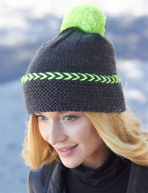 how to knit a cap city chic winter hat allfreeknitting