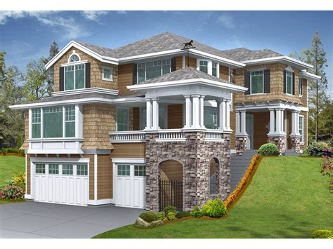 house plans for sloping lots gramercy place craftsman home plan 071d 0134 house plans and more