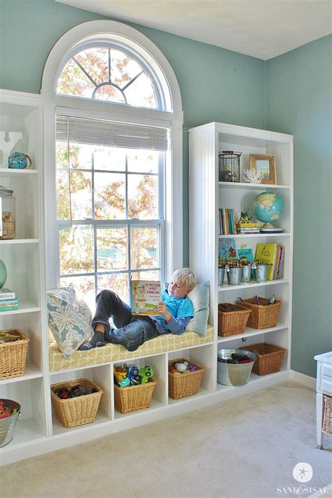 built in bookshelves diy diy built in bookshelves window seat sand and sisal