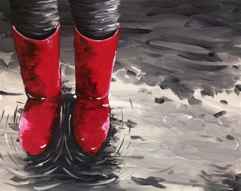 paint nite in wading in wellies by shannon todd paint nite