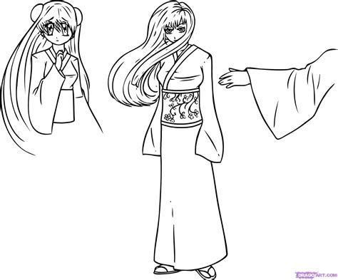 how to draw a how to draw a kimono step by step fashion pop culture