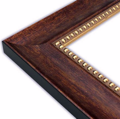 beaded picture frames scooped copper brown with gold bead picture frame solid