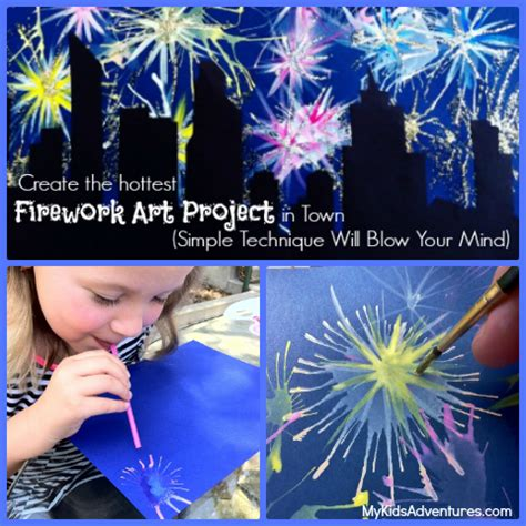 spray paint fireworks how to paint fireworks with your my adventures
