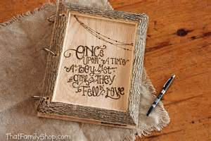 picture guest book thatfamilyshop rustic guest book
