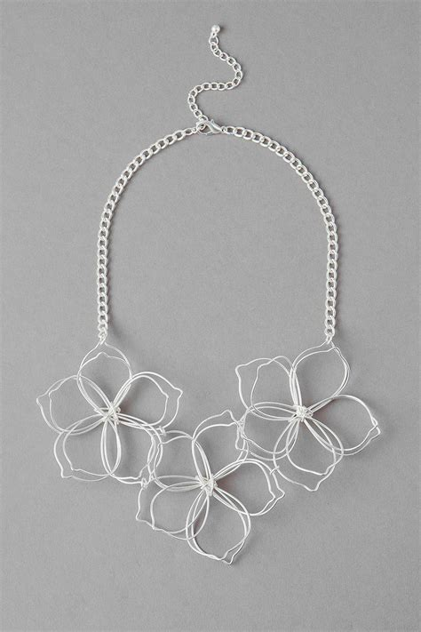 jewelry supplies sydney sydney floral statement necklace in silver s