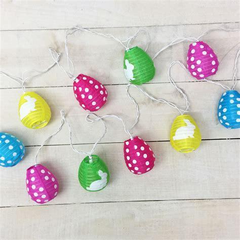 pastel easter lights pastel easter egg lantern string lights