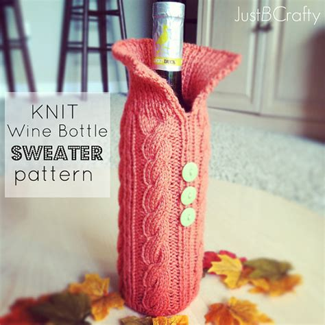 knitted wine bottle cozy knit wine bottle sweater pattern pdf knitted wine