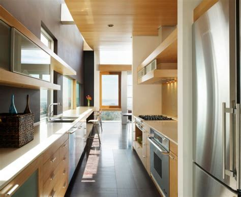 narrow kitchen designs form and function in a galley kitchen
