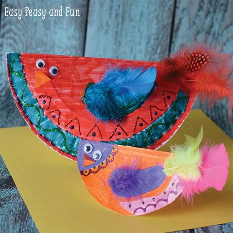 bird paper plate craft paper plate bird craft paper plate crafts easy peasy
