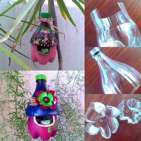 water bottle crafts projects diy easy to make plastic bottle bird house find